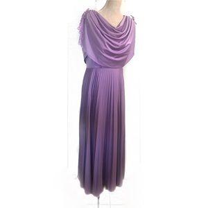 Vintage plus size violet 70's gown